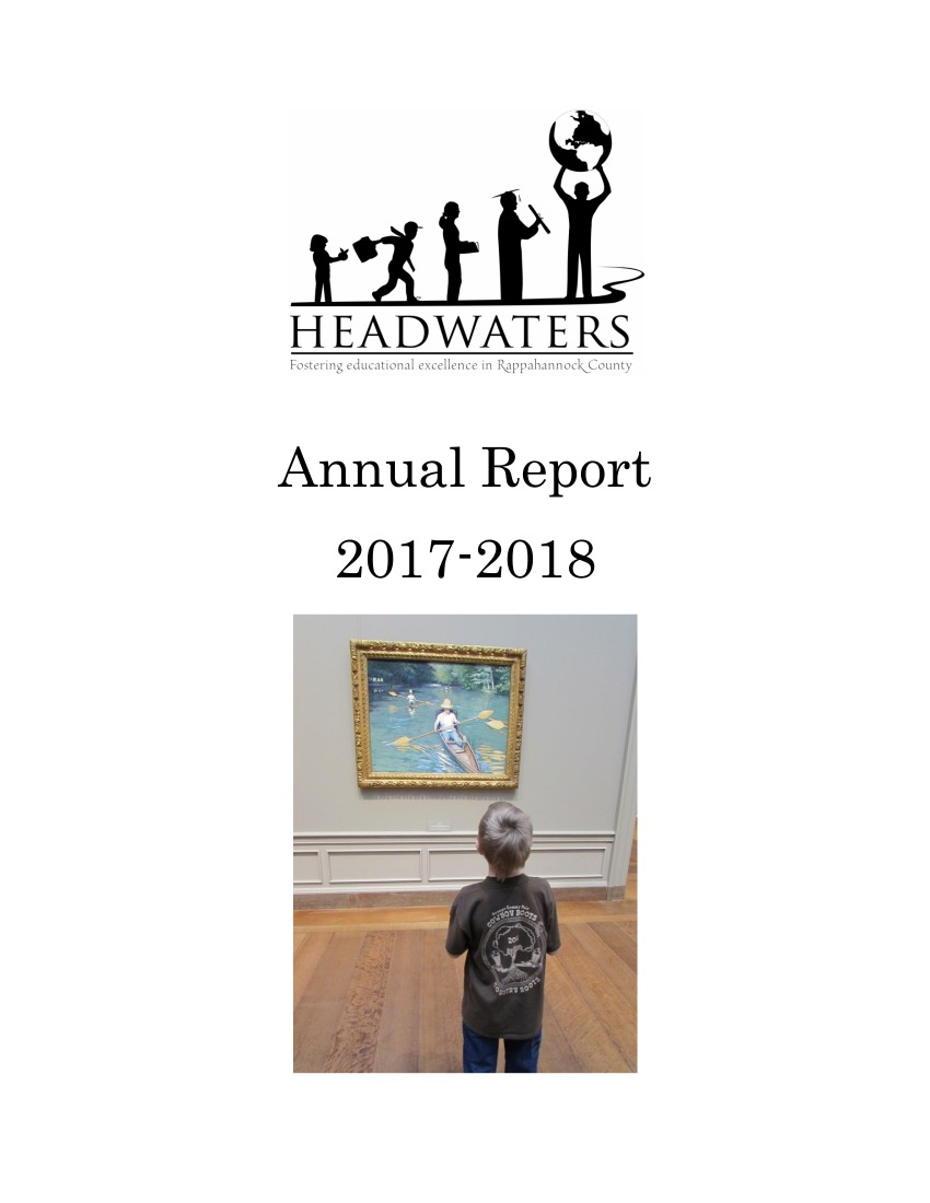 Headwaters Annual Report FY 17-18 Cover